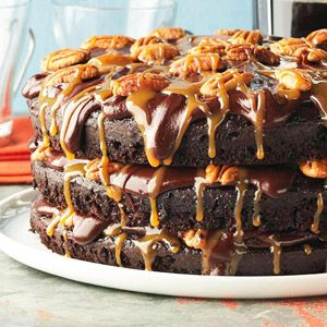 Cafe Latte's Turtle Cake  Sheer three-layered audacity put this creation from a Saint Paul bakery in our hall of fame: buttermilk-cocoa cake, candylike chocolate frosting and creamy caramel sauce. Originally published: December 2005. (Midwest Living