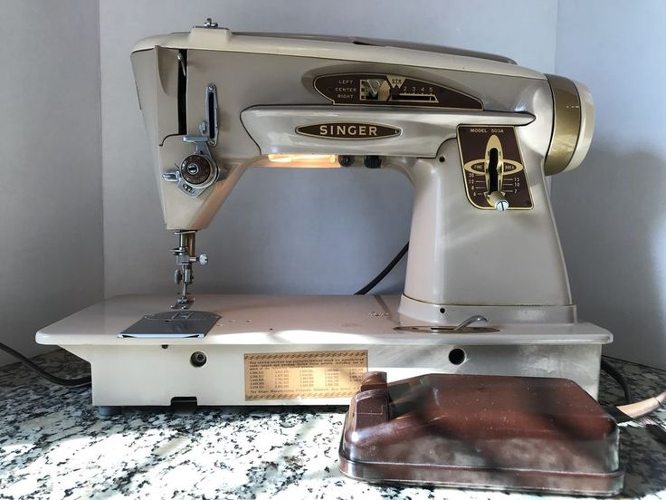 Vintage 1961 Singer 503A Slant-O-Matic Rocketeer Sewing Machine, It's A Classic✨ #SINGER