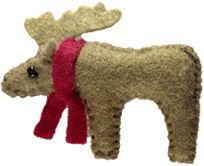 Miniature, collectible, handsewed, woolfelt, woolstuffed, handmade animals