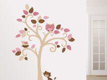 Awesome Katze Baum Wandtattoo kinderzimmer