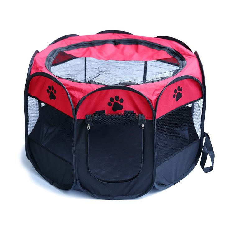 These pop up play pens are perfect for training, travel, puppies, older pups... and it's here for way cheaper than retail - especially since it's free shipping!