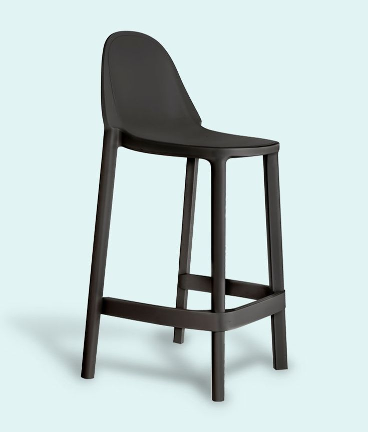 Pure Bar Stool in Anthracite by Impaczone