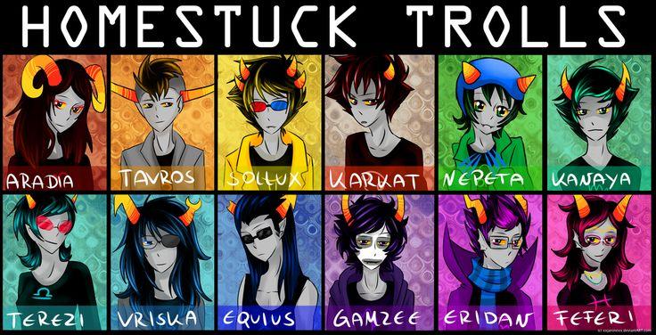 all #homestuck trolls by =xxjaninexx on deviantART