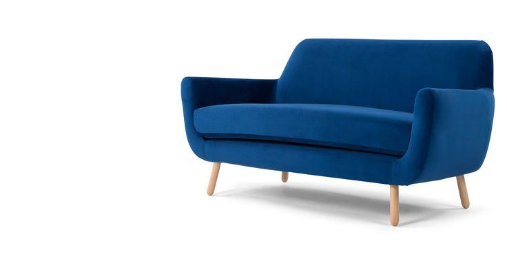 Jonah 2 Seater Sofa, Cobalt Velvet