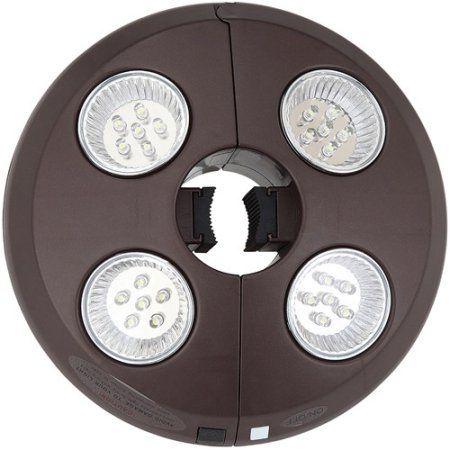 Blue Wave 4-Light Rechargeable LED Umbrella Light, Bronze