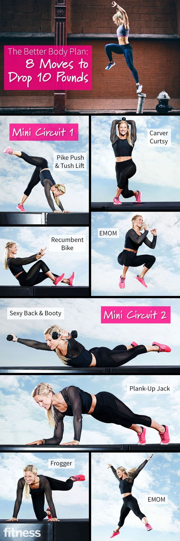 8 Moves To Drop 10 Pounds fitness workout weight loss exercise cardio home exercise diy exercise routine fat loss exercise routine