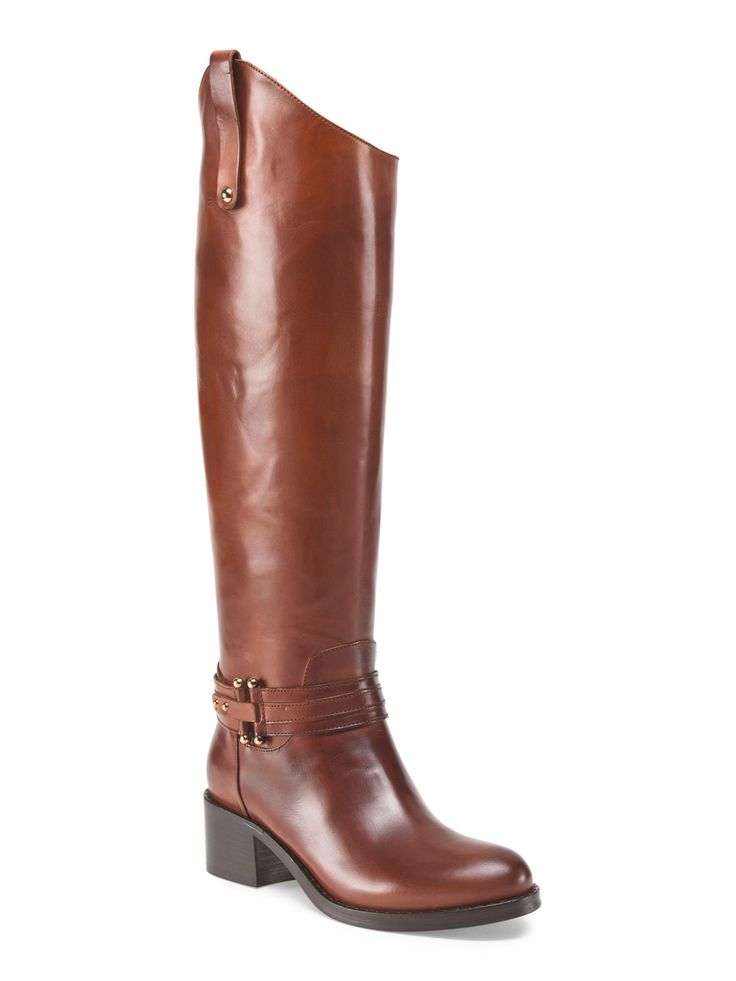 capezzani made in italy leather high shaft boot in