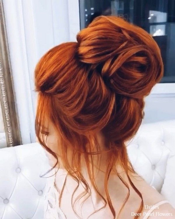 Get Some Inspirations From Tattoos World Hair Styles Red Hair Updo Elegant Wedding Hair