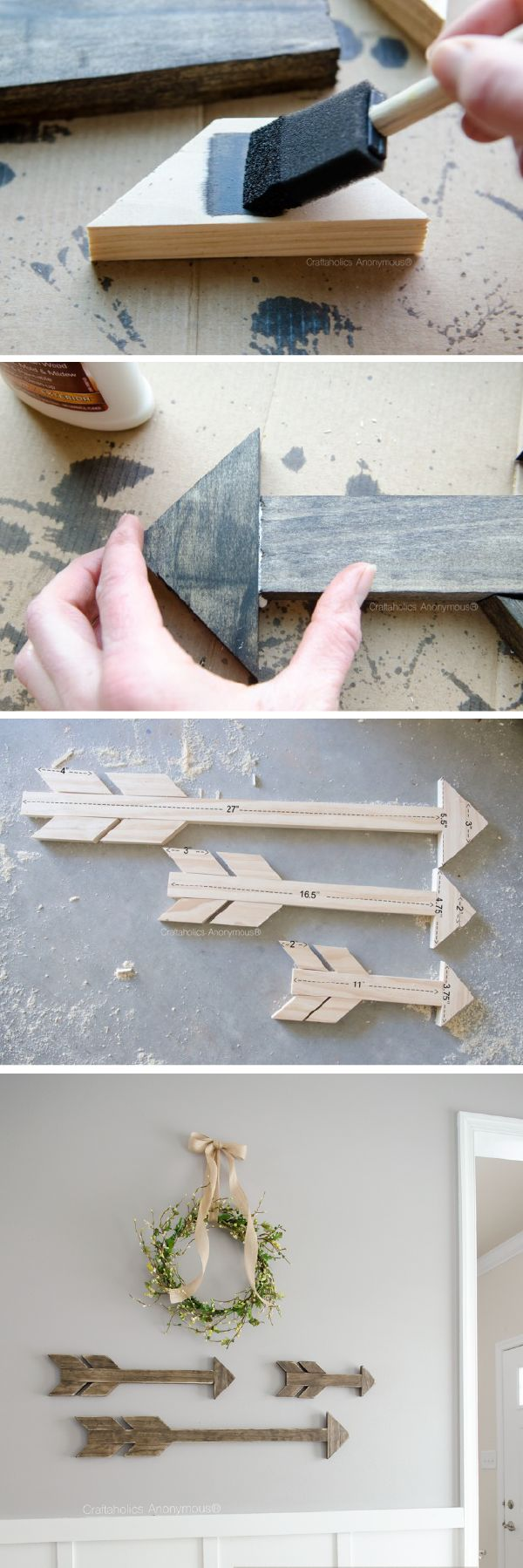 Best 25 easy woodworking projects ideas on pinterest easy wood how to make wood arrows tutorial homemade home decorhomemade wall amipublicfo Image collections