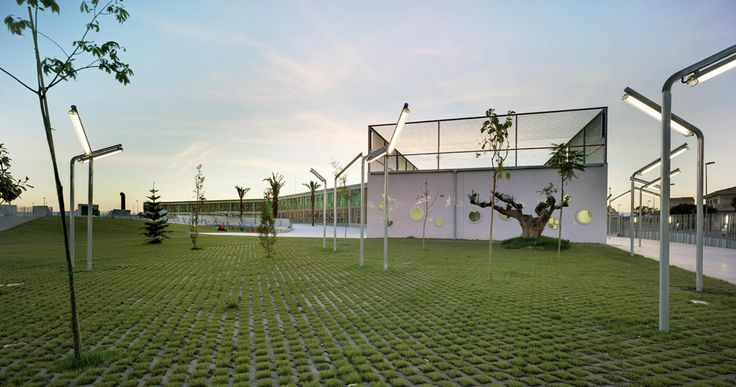 Urban spaces and Library Park in Torre Pacheco by Martín Lejarraga Architecture
