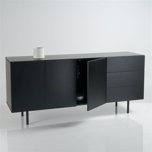 Charming Bahut Noir Laque #4: Buffet/bahut Design 3 Portes/3 ...