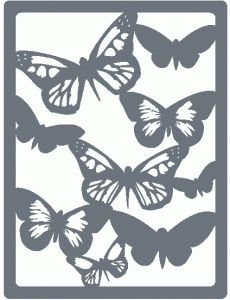 Silhouette Online Store - View Design #46161: butterfly silhouette journaling card