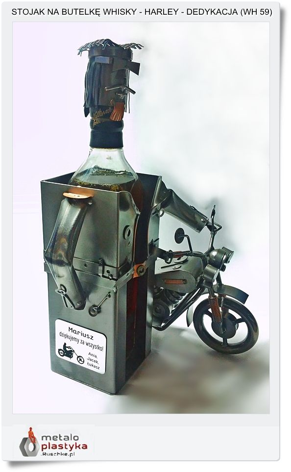 gift with a dedication for the Harley Whiskey motorcyclist