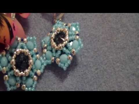 "Tutorial Perline: Ciondolo ""RETURN"" realizzato con delica, rocaille, swarovski e superduo - YouTube"