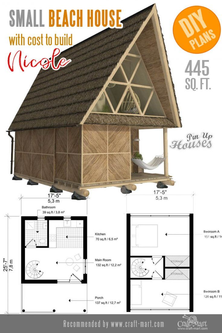 Awesome Small And Tiny Home Plans For Low Diy Budget Craft Mart In 2020 Tiny House Plans Small House Plans House Plans