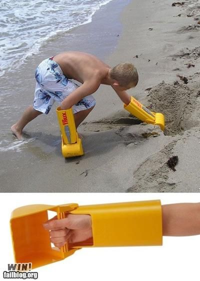 very cool...now you don't have to scour the beach for a discarded cup!