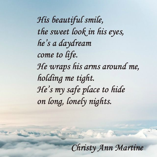 Sweet Love - Christy Ann Martine - Short sweet love poem - cute love poems for boyfriend or husband