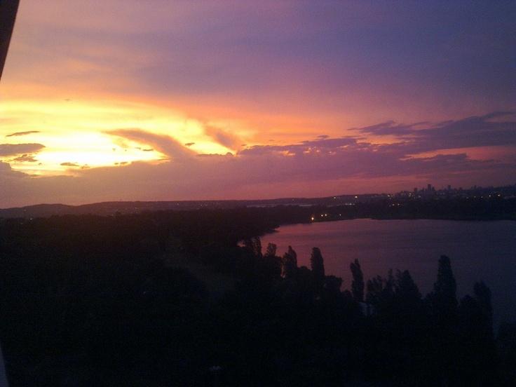 Sunset over Germiston Lake