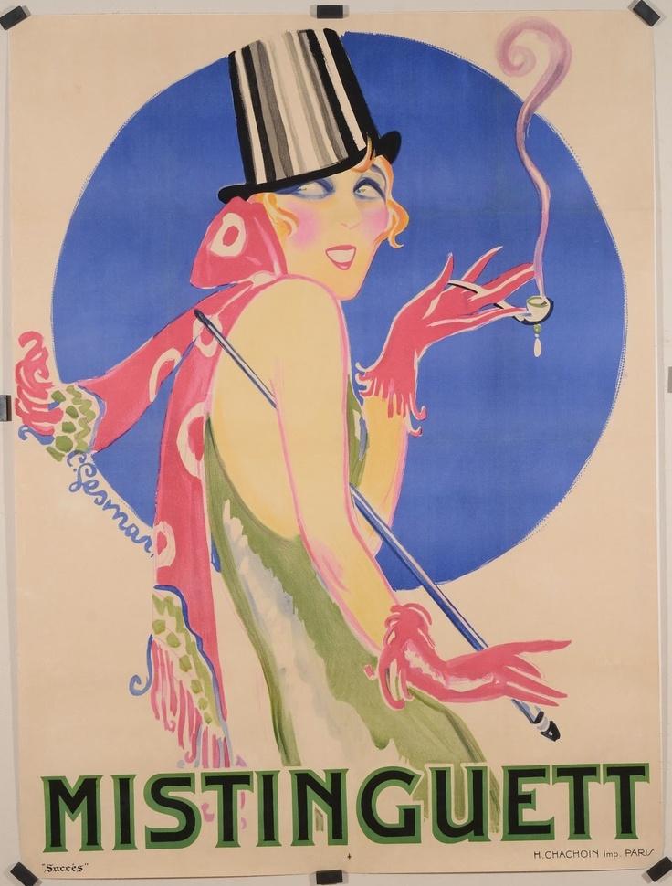Vintage et cancrelats - Charles Gesmar - 'Mistinguette' 1924
