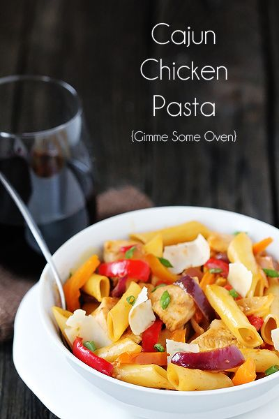 Cajun Chicken Pasta {Gimme Some Oven}