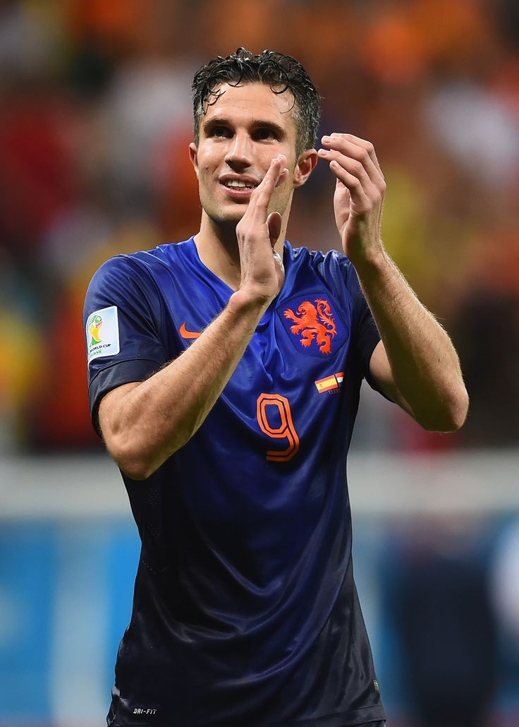 Robin van Persie of Netherlands against Spain in the 2014 World Cup
