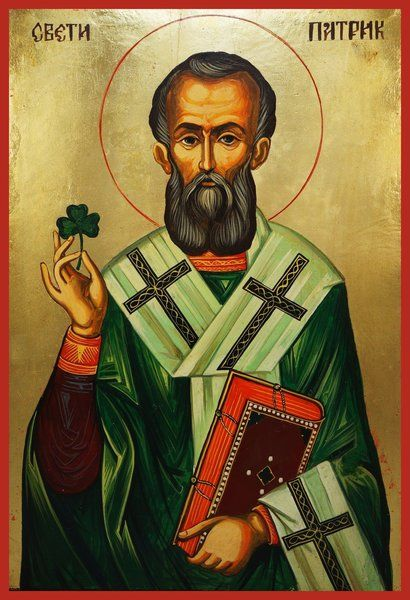 St. Patrick of Ireland Russian Orthodox icon