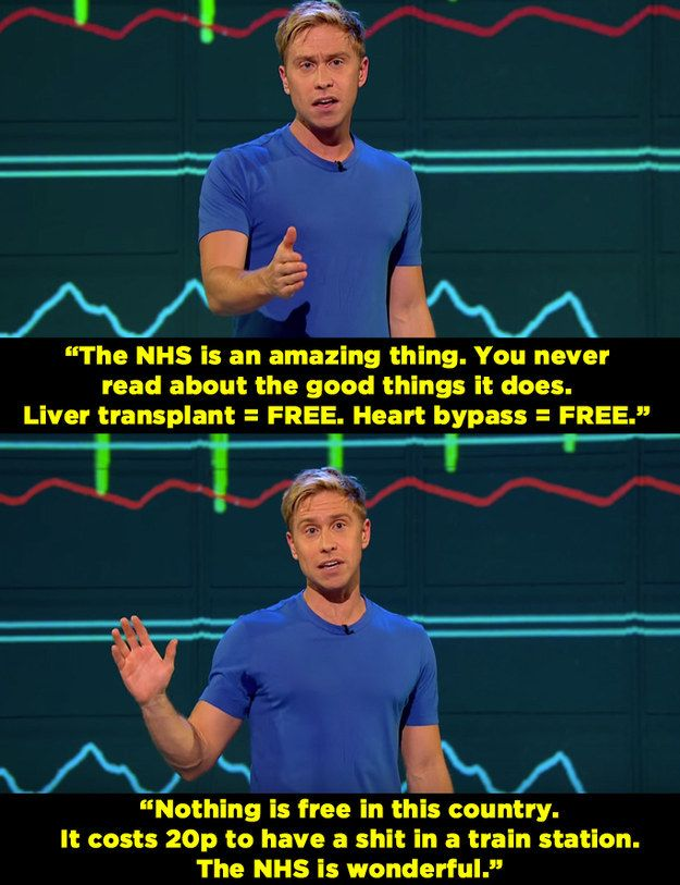 When he gave this passionate defence of the NHS. | 14 Times Russell Howard Nailed It