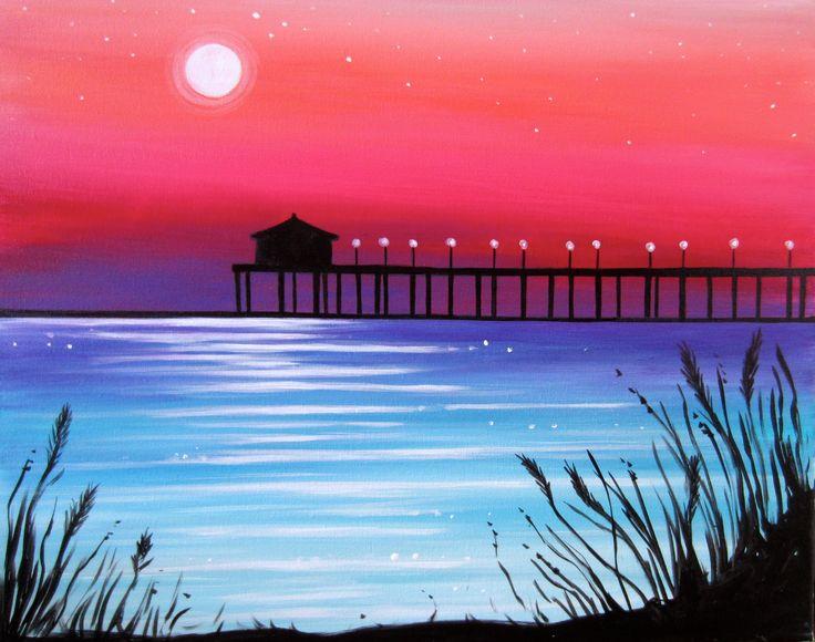Best 25 Sunset Paintings Ideas On Pinterest