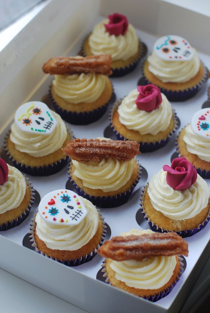 Day of the Dead Cupcakes and Churro's Cupcakes.