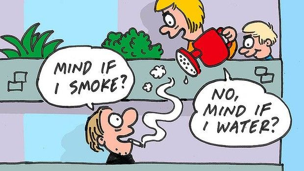 Strata smokers face $5500 fines - Smokers can be banned from puffing away in their own homes if it affects other residents, and face fines of up to $5500 if they don't quit.