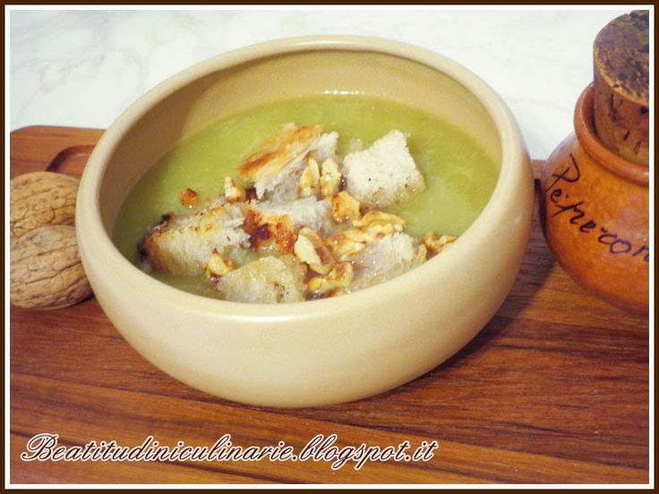 Cabbage, nuts, and bread soup