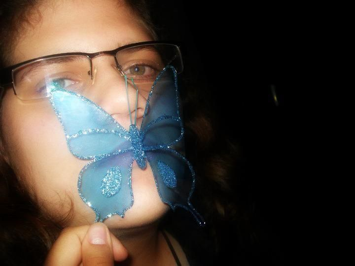 Una dulce mariposa.