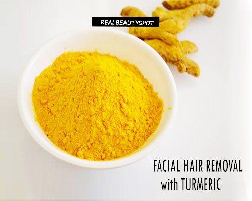 Come utilizzare curcuma per la pelle chiara e di rimozione dei capelli del viso