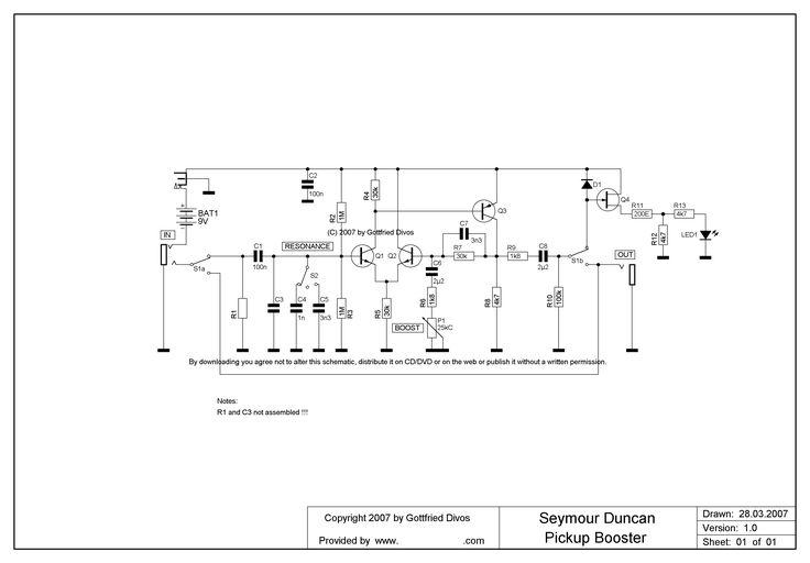 Seymour Duncan Pick Up Booster Schematic - Find Wiring Diagram •