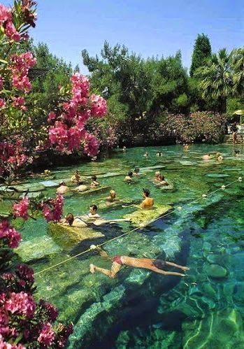 Cleopatra's Pool, Pamukkale, Turkey                                                                                                                                                                                 More