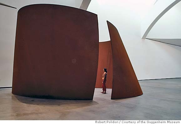 Richard Serra's sculptures