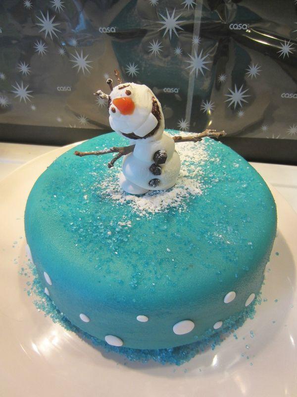 Gâteau anniversaire Reine des Neiges - Top !