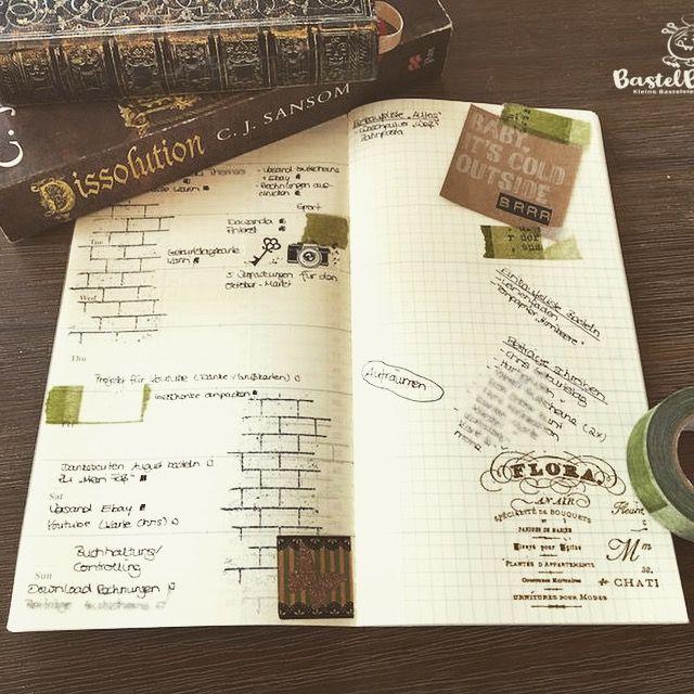 Midori Traveler's Notebook, TNB, Journal, Organizer, Diary, Stampin Up, SU, Berlin, Vintage, Vintagestyle, stempeln, stanzen, staunen,