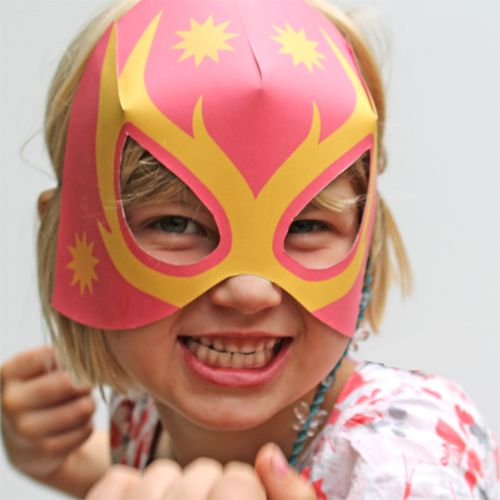 Step-by-step: How to make Lucha Libre masks (Free paper mask template)
