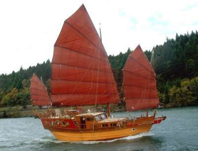 Traditional junk (Chinese boat), China