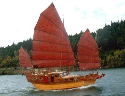 Traditional junk (Chinese boat), China