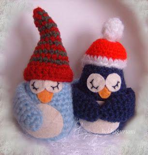hekkagurumi: Amigurumi pingvinek karácsonyra - az utolsó utáni pillanatban :) - amigurumi, horgolt babák, bubák maybe...