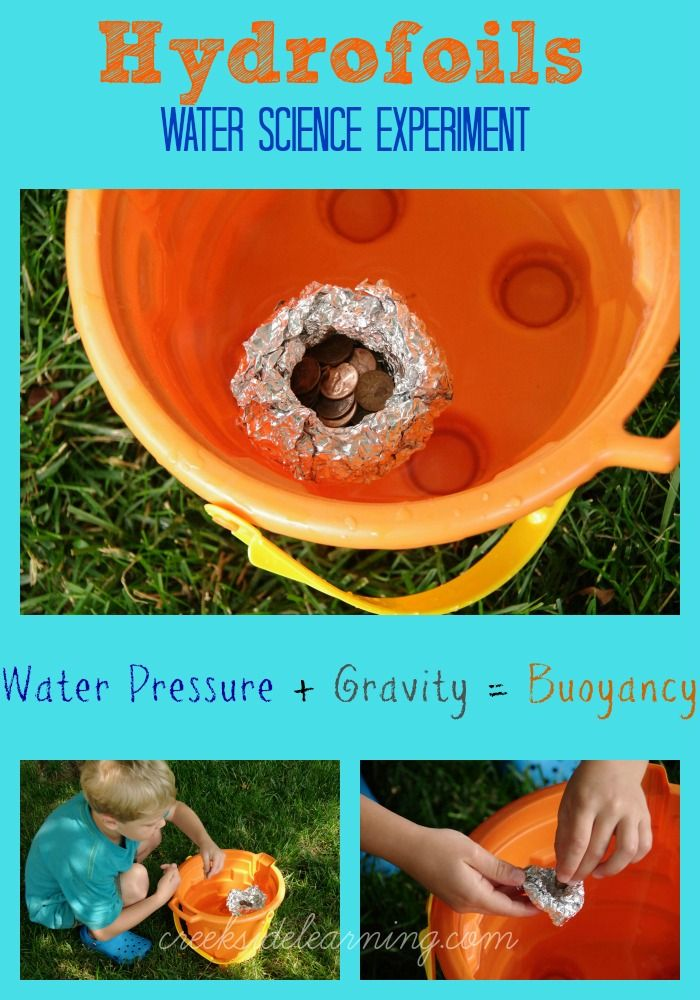 Science Experiment for Kids to learn about buoyancy (water pressure + gravity).