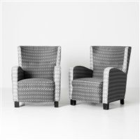 a pair of easy chairs by Margareta Köhler