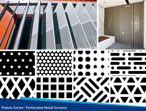 Louvreclad perforated metal screens