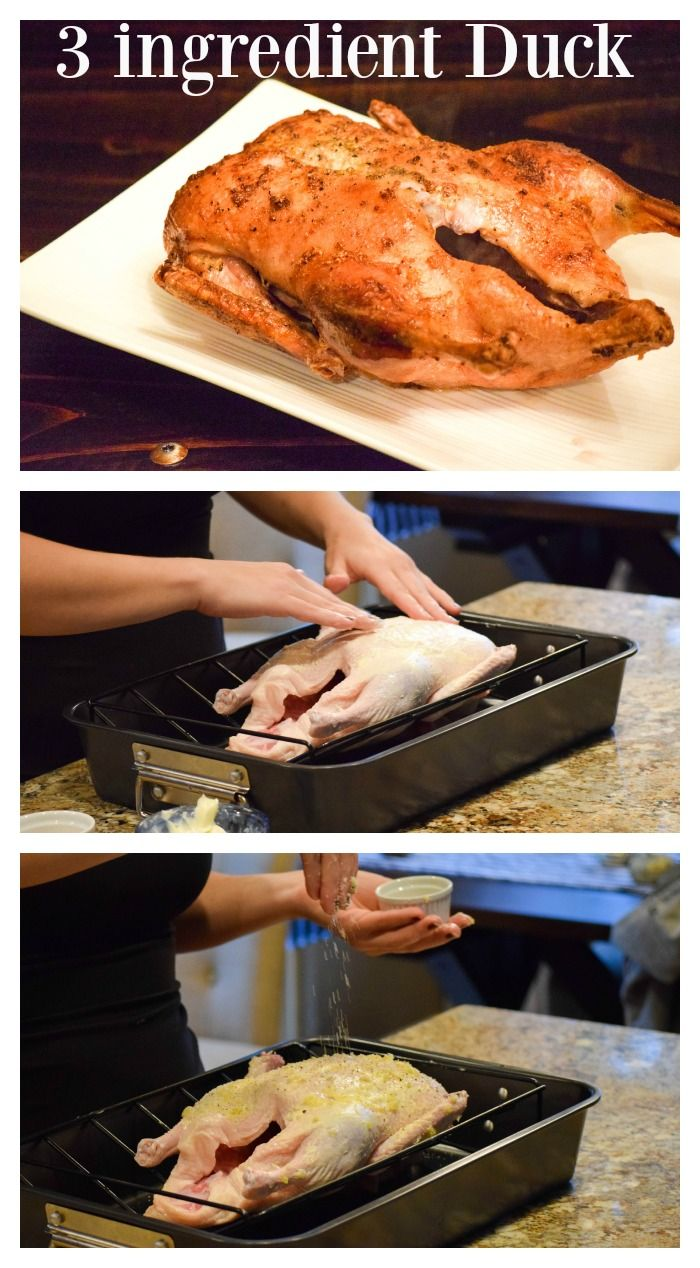 Amazing roasted duck that only requires a couple minutes prep time and 3 main ingredients (which you probably already have)