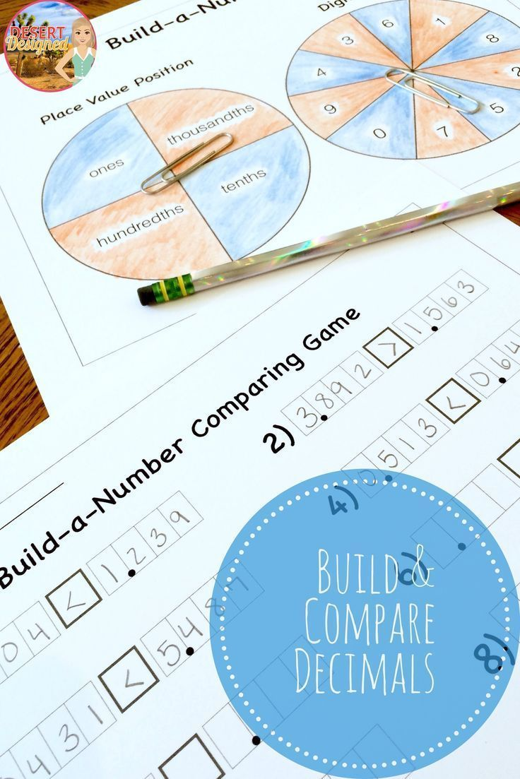 Compare decimal numbers with this fun game!