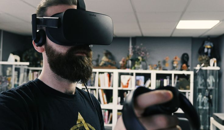 My colleague giving #Oculus #Medium a go. #rift #work #vr #virtual #reality