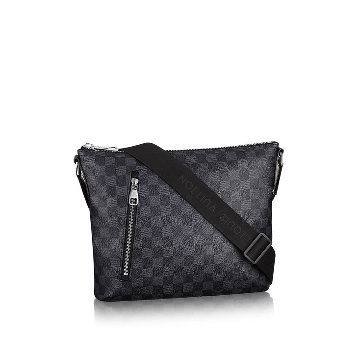 If you in it to portray energetic style....OWN THIS BAG!  Mick PM Toile Damier Graphite - Sacs homme | LOUIS VUITTON