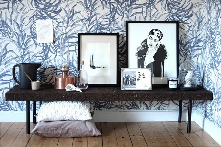 Sinnerlig soffbord (Ilse Crawford för IKEA), Flugger tapet – Husligheter